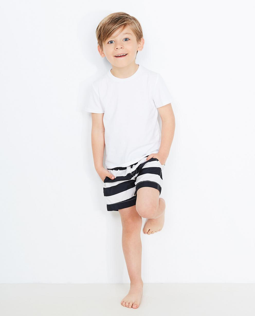 Short de natation rayé - noir et blanc - JBC e6a2021139e